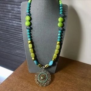Jewelry - Beads n Stones Necklace with Pendant